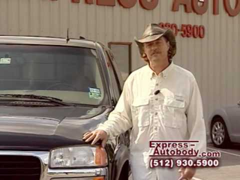 Roofing by Stacy Pearson in Express AutoBody television commercial