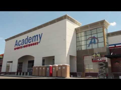 Academy Sports Brick Veneer, EIFS, and Stone by Bordner Installation Group stucco division